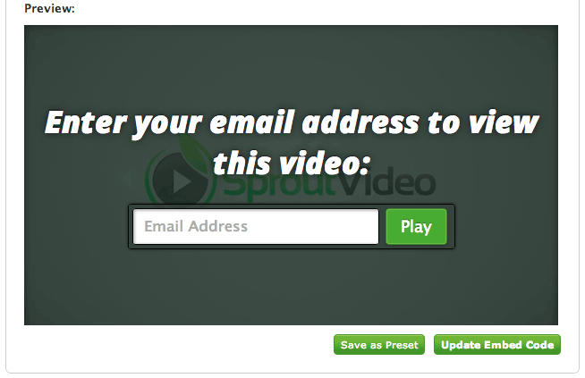 Email Gated Video