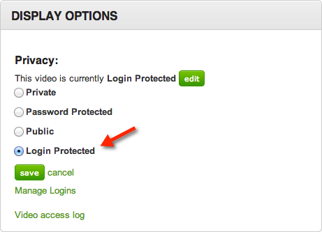Login Protected Video