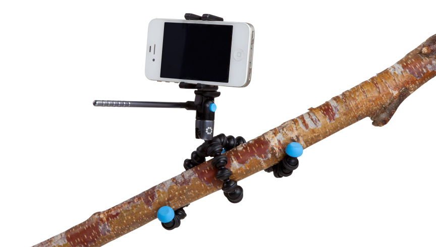 Easy to use tripod for video production with smart phones for videos hosted on the web