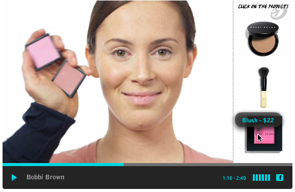 Interactive product video from Bobbi Brown