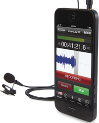 Lavalier or lapel microphone for smartphones