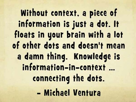 Michael Ventura quote about the importance of context