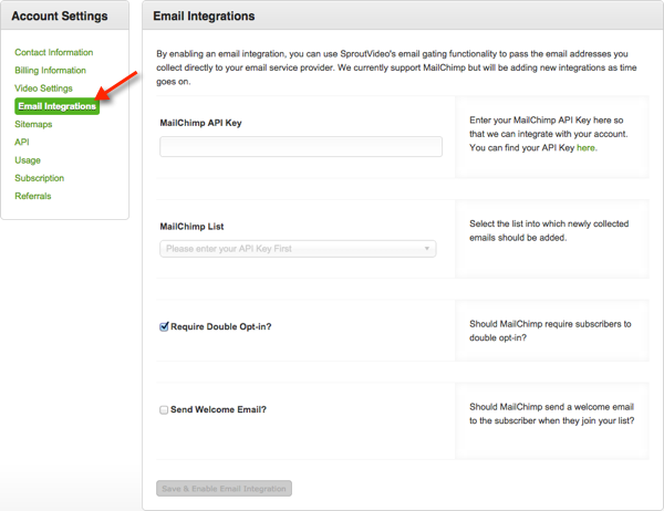 New MailChimp integration for video marketing with SproutVideo