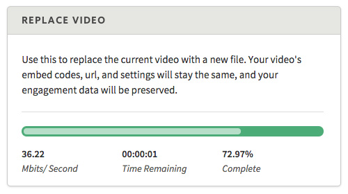 How to replace a video file hosted on SproutVideo