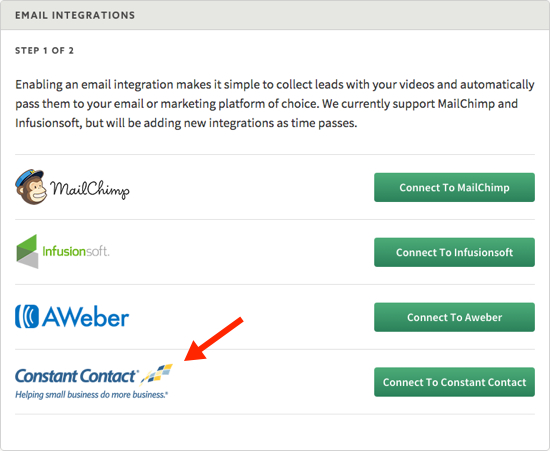 New video marketing integration with Constant Contact