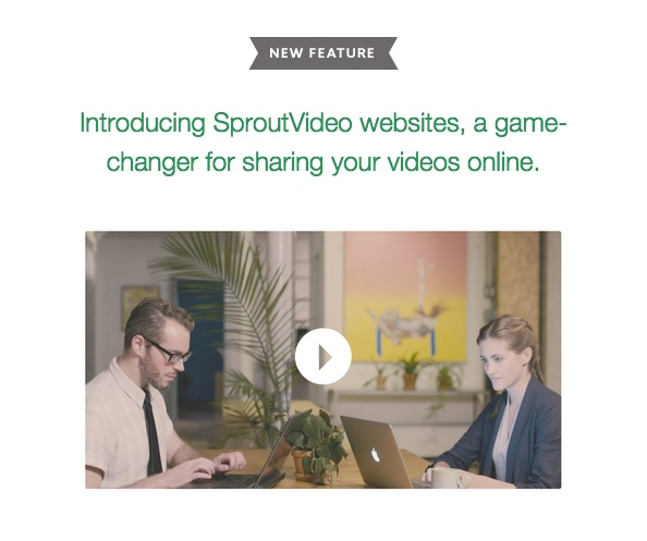 Example of Video in an Email Campaign
