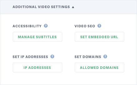 New Per Video IP Address and Allowed Domains Permissions