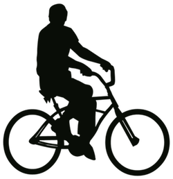 Man on bike silhouette