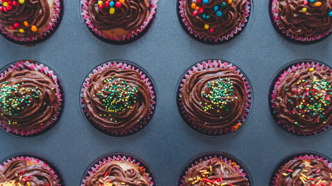 Delicious Cupcakes with Sprinkles